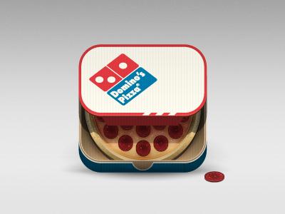 Dominos Pizza dominos pizza food app icon illustration