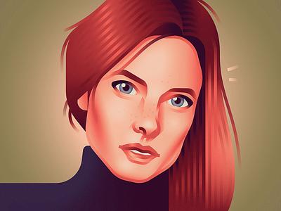 Rebecca Ferguson woman girl model art portrait illustration