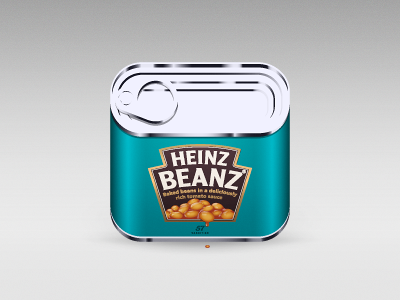 Heinz Beanz heinz beans can food icon illustration