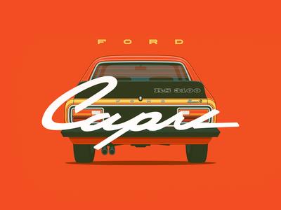 Ford Capri RS3100 ford capri car muscle american retro classic poster