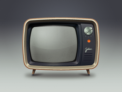 TV old television tv illustration icon