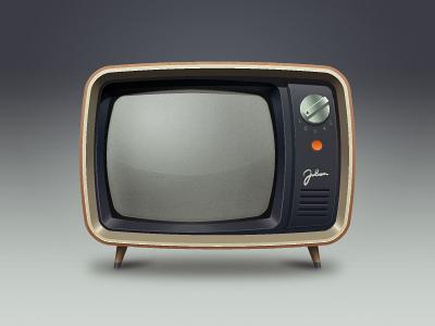 TV old television tv illustration icon