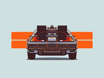 DeLorean back fan travel time speed tribute movie future car