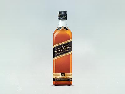 Johnnie Walker whisky scotch black label drink alcohol bottle