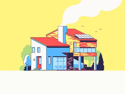 Villa architecture design modern home house villa