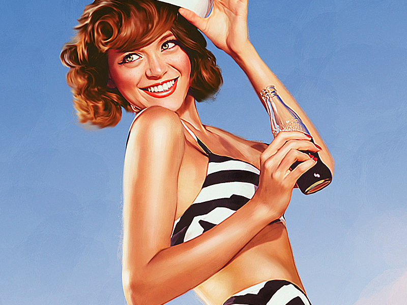 Beach pinup dribbble
