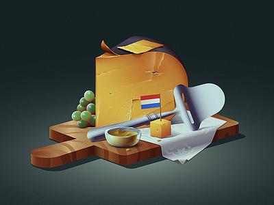 Oude Kaas food mustard grapes platter holland netherlands dutch cheese