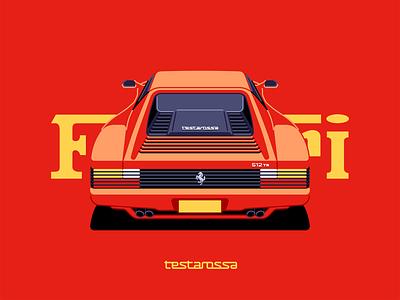 Testarossa retro ferrari vehicle speed car