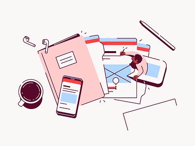 Slab Onboarding #3 wiki communication desk coffee phone document paper file office work