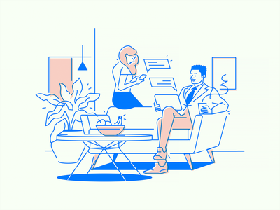 Office App #3 startup desk work cooperation illustration colleagues app office