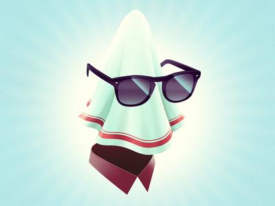 Handkerchief handkerchief sunglasses collar swag crazy character cartoon illustration