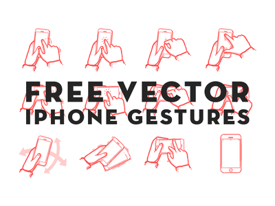 Gestures free vector sketch storyboard flow work iphone gestures swipe drag tap shake pinch zoom mobile phone tool