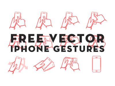 Gestures free vector sketch storyboard flow work iphone gestures swipe drag tap shake pinch zoom mobile phone tool