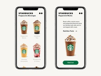 Starbucks app / Concept / Menu