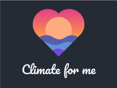 Climate For Me logo sun climate weather icon logo