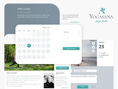 Yoga studio website design