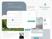 Yoga studio website design