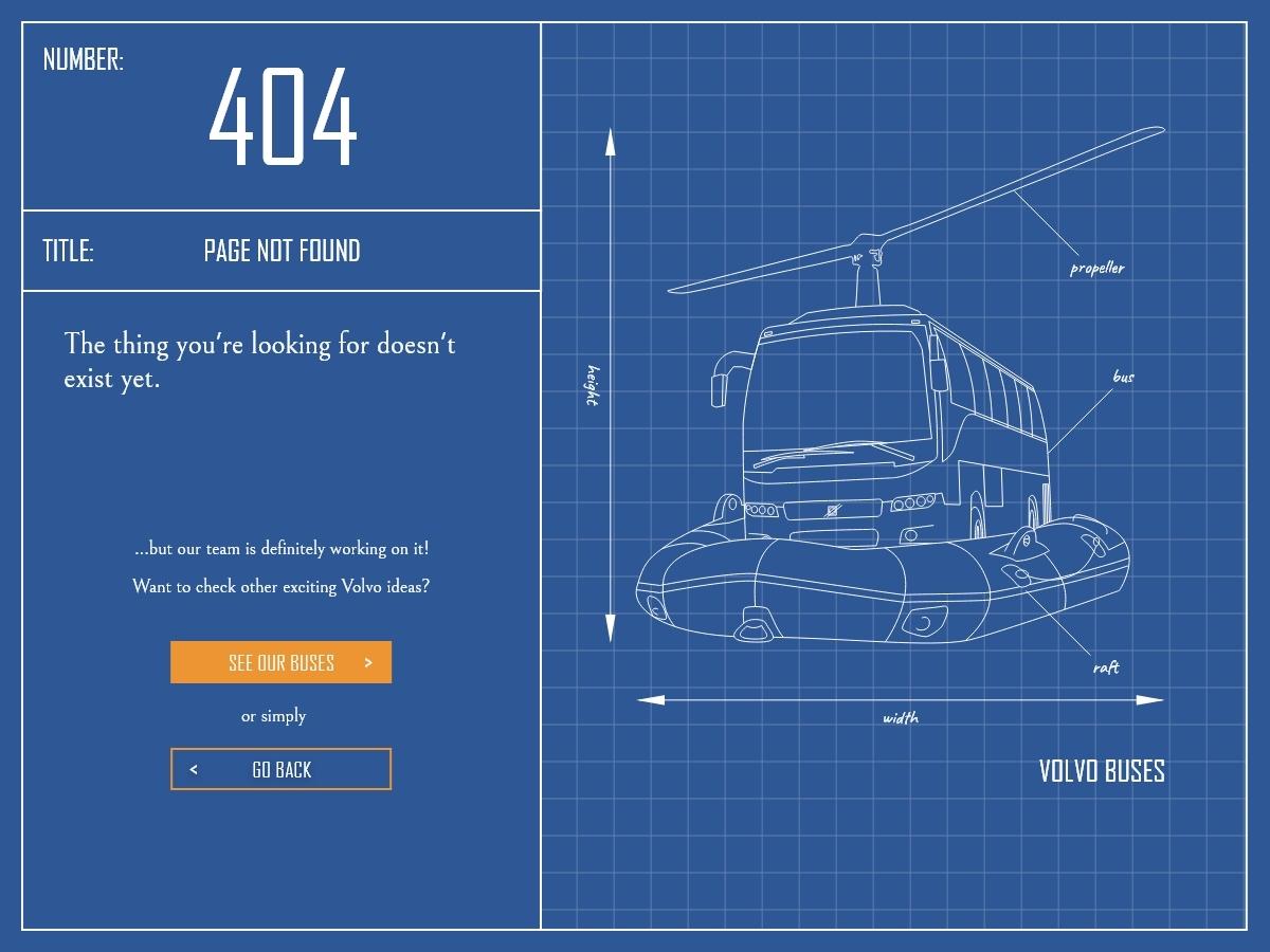 Volvo 404 🚍 ux design adobe illustrator adobe xd web design 404 page