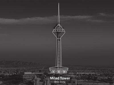 milad tower milad tower illustrator illustration design