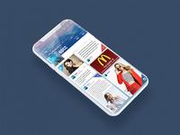 Home Screen Magazine App UI  profile (project)