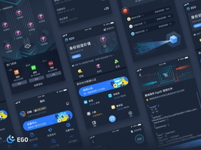 Ego Page value technology ui-ux safety identity design data blockchain app ios