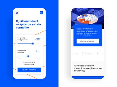 Instamoney l Fintech Site 1st shot debute debut hello dribble hello dribbble fintech bank app bank mobile app mobile website design app web ui ux ui design ux