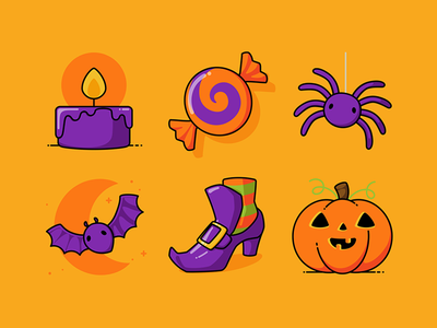 Halloween Icons Set Pt1 iconset spooktober halloween vector icons icon set design graphic illustration