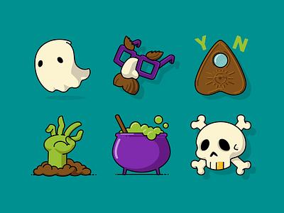 Halloween Icons Set Pt2 halloween icon set icons spooktober vector design graphic illustration