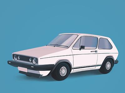 VW Golf GTI 1982ish volkswagen vw illustration procreate car