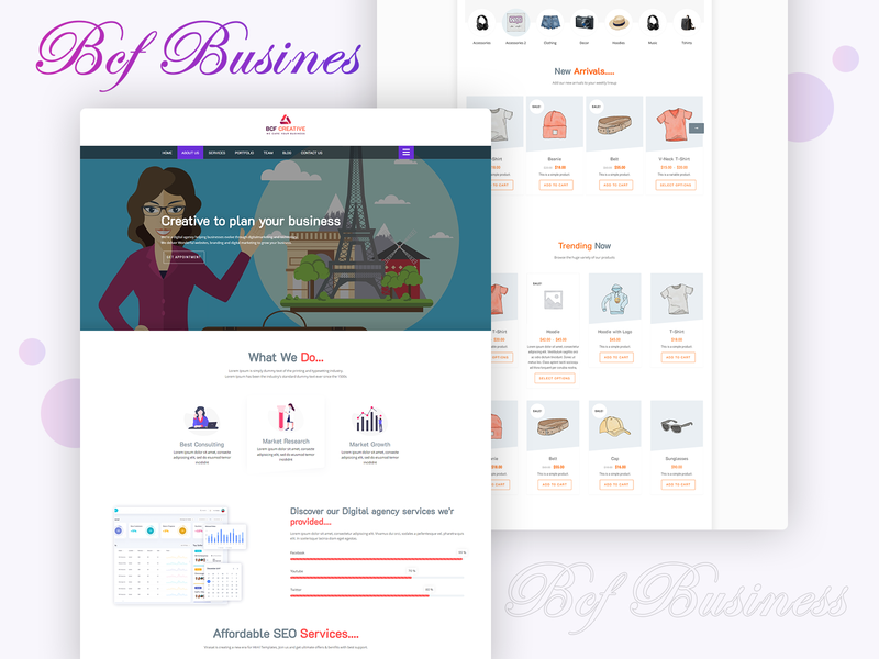 Business Consultant Finder ( BCF ) Multipurpose WordPress Theme