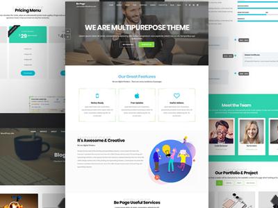 Be Page One Page Parallax & Multipurpose WordPress Theme