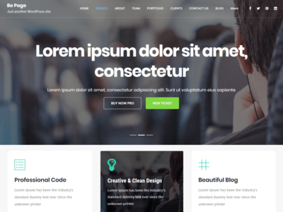 Be Page One Page WordPress Theme