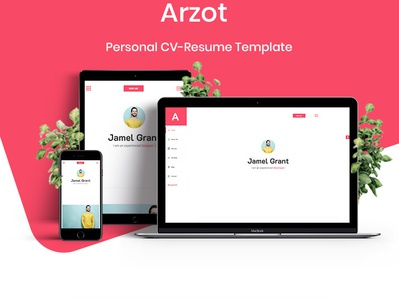 Arzot - CV Resume Template blog theme for wordpress woocomerce web 2.0 web web 3.0 branding ui ux psd design theme design template design logo vector design typography illustration multipurpose flyer cv blog design