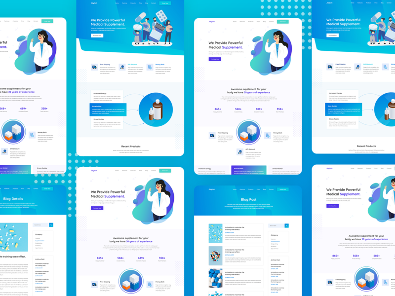 Joytun Health Supplement PSD Template uixdesign ui  ux app  design minimal flat animation design psd design app logo web 3.0 web 2.0 ux vector branding ui template design typography illustration theme design