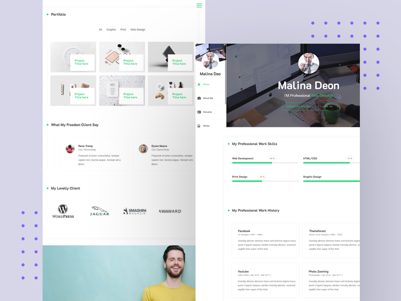 Free Wordpress Theme Online Cv Resume By Athemeart On Dribbble,Simple Kitchen Pantry Designs Pictures