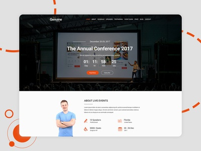 Geinuine - Conference and Event free  webpage templates