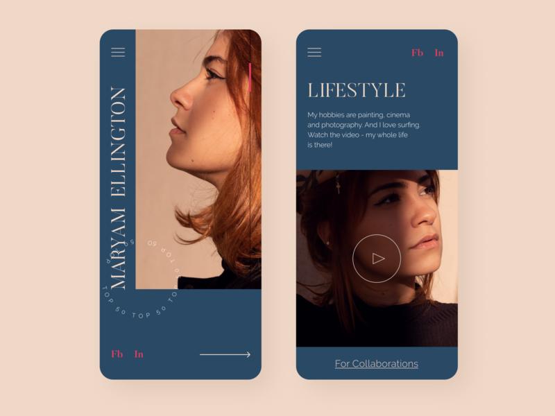 Fashion UI Mobile App responsive design typogaphy portfolio design trend fashion app dailyui ios mobile minimal dribbble design interface concept ui ux