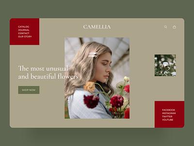 Flower store UI dribbble dailyui photo web website beautiful trends 2020 minimalism minimalist promo logo e-commerce homepage minimal design interface concept ui ux