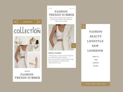 Fashion Magazine Mobile trends layout magazine fashion graphicdesign logo branding minimalism clean mobile dribbble minimal concept interface design ui ux