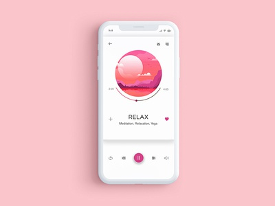 Music Player - Daily UI #009 music player app mobile ui ux relax 009 dailyui dribbble