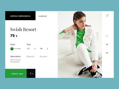 E-Commerce Shop (Single Item) e-commerce concept clean design girls interface shop store fashion 012 dailyui