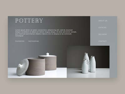 Pottery e-commerce