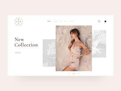 E-commerce shop (home page) pastel color home page grid concept shop minimal clean interface design e-commerce fashion store webdesign website ui ux