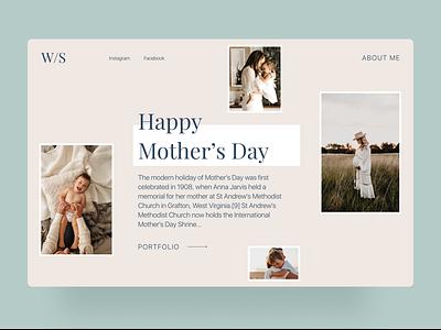 Photographer Website website design website photo portfolio typography color minimal dribbble design interface concept ux ui