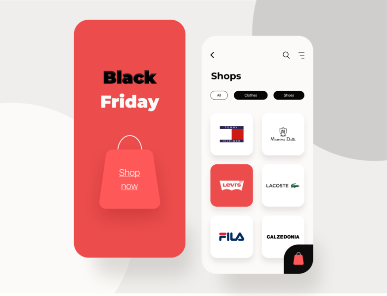 Black Friday Mobile app web mobileapp ios blackfriday e-commerce mobile minimal dailyui dribbble design interface concept ux ui