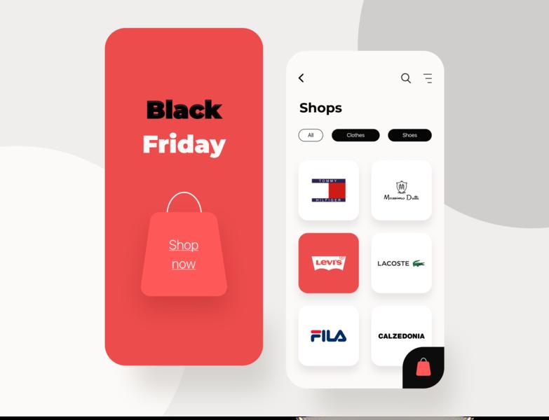 Black Friday Mobile app web mobileapp ios blackfriday e-commerce mobile minimal dailyui dribbble design interface concept ux ui