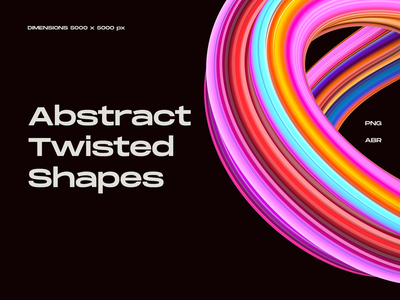 Abstract Twisted Shapes background twirl brush shape abstract 3d