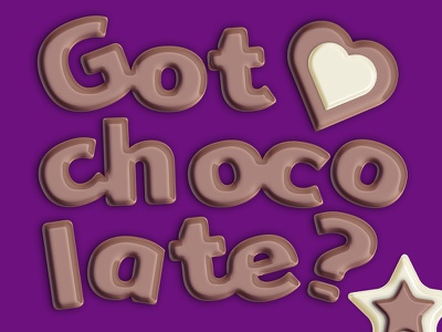 Milk Chocolate Layer Styles text effect chocolate cacao alphabet add-on