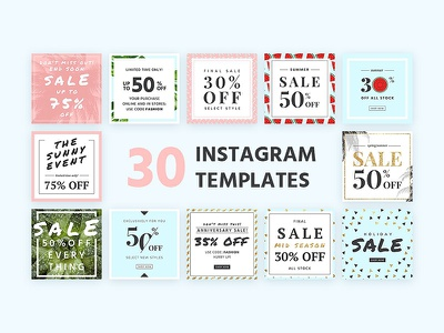 30 Instagram Templates template layout social media media promotion smm templates instagram