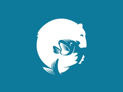 Polar Bear animal logo animal creative branding funny playful logo logo design creative logo design